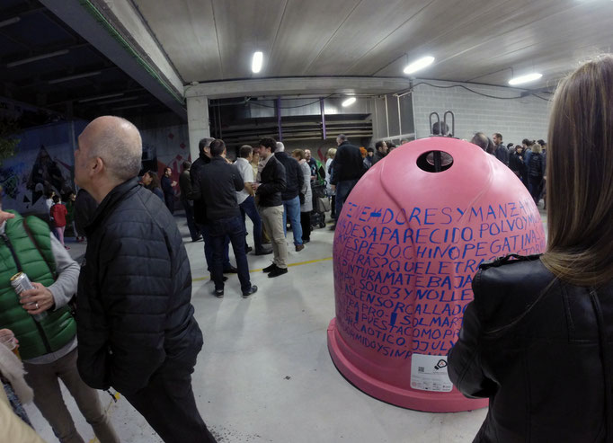 "Exposición ""Sal de Dudas"", Centro de Arte Contemporáneo Huarte. Contenedor Santa Marta (Virginia Santos, Teresa Sabaté, María Azcona y Mikel Cabrero). maría azcona 2015"