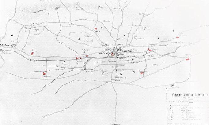 Carte Historique Bovolone - XVI sec