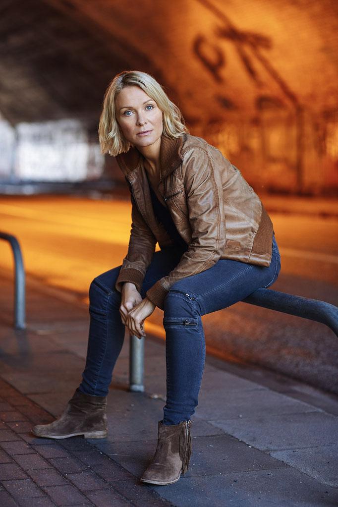 Schauspielerin Evi Meinardus Sommer 2017 Hamburg, Fotograf Thomas Leidig