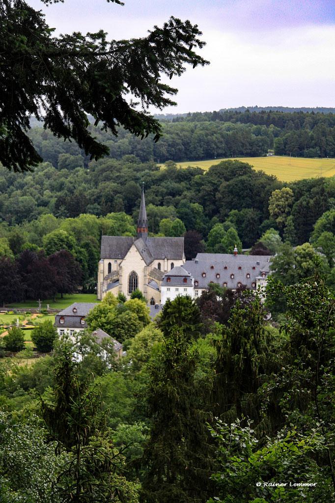 Schöne Aussicht mit Blick auf Kloster Marienstatt