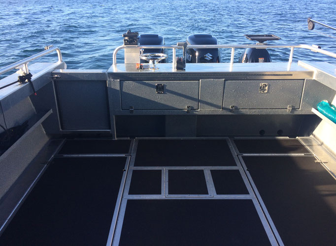 Warrior Fishing Charters, Boat: Tyee Warrior, Fishing Deck