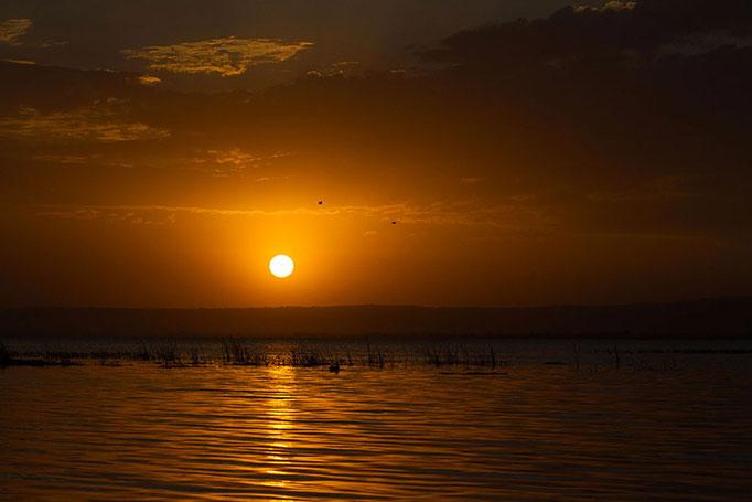 Coucher de soleil sur le Lac Awasa