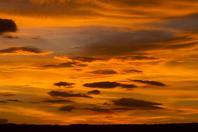 Maasai Mara: Coucher de soleil... il va pleuvoir