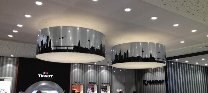 Deckenlampen Design in Juweliergeschäft
