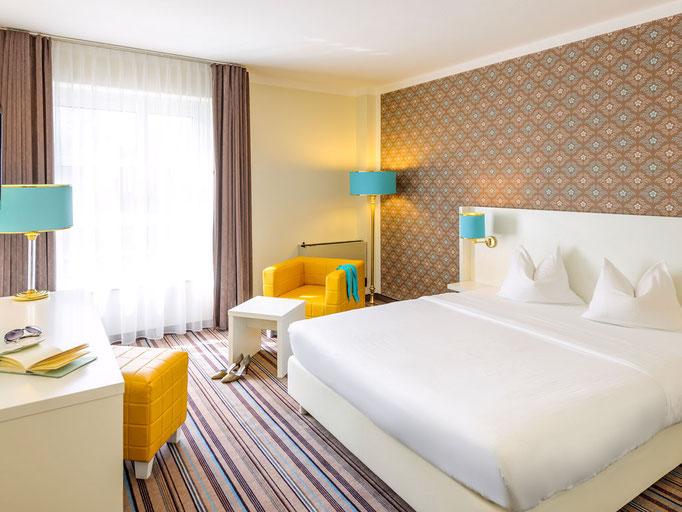 Designerlampen in Hotelzimmereinrichtung