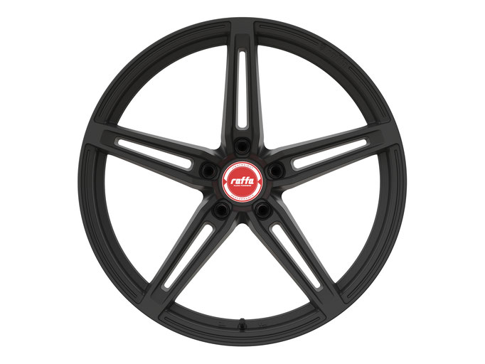RAFFA WHEELS RF-01 MATT BLACK RED CAP
