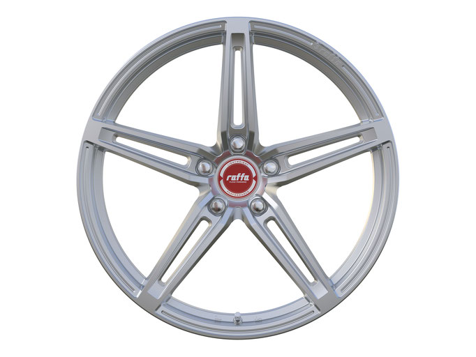RAFFA WHEELS RF-01 MATT SILVER RED CAP