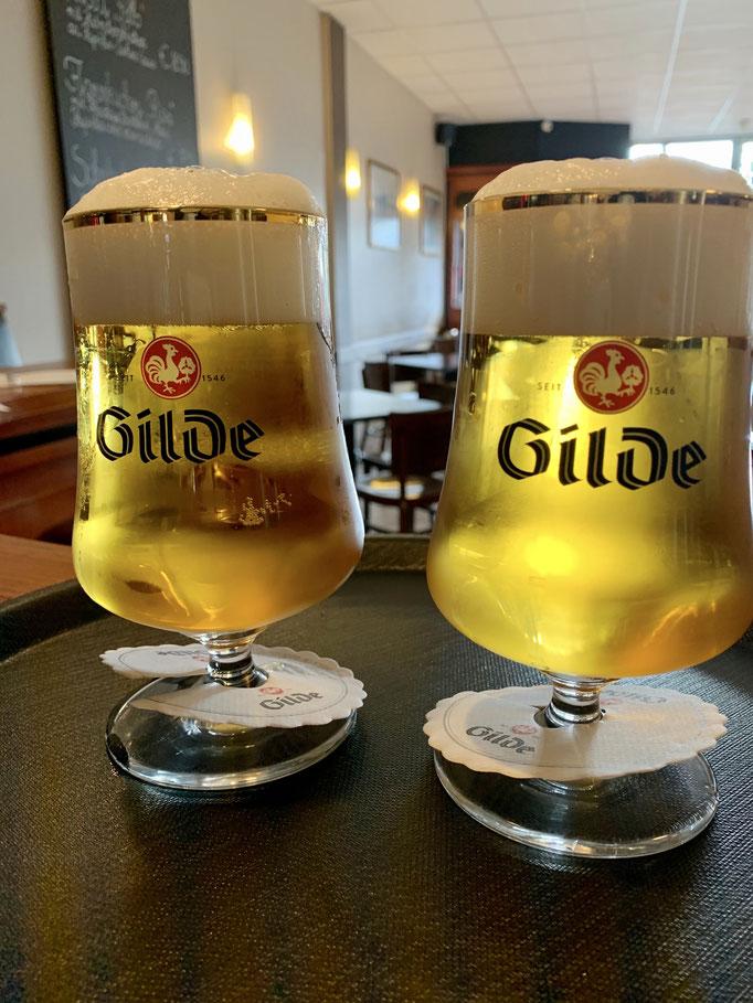 Gilde Bier frisch vom Fass