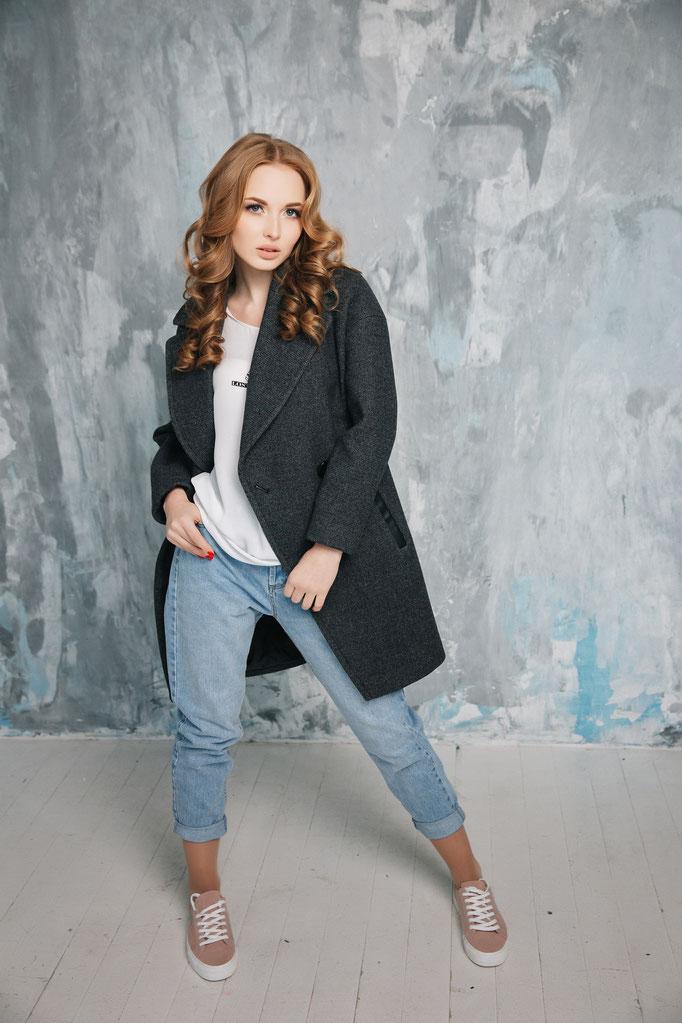 Look 17.  Пальто в стиле БойФренд 3. (размеры 40-50 ) Коллекция весна 2017