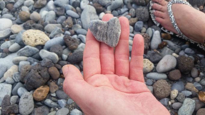 Ein Teneriffa-Strand-Herz