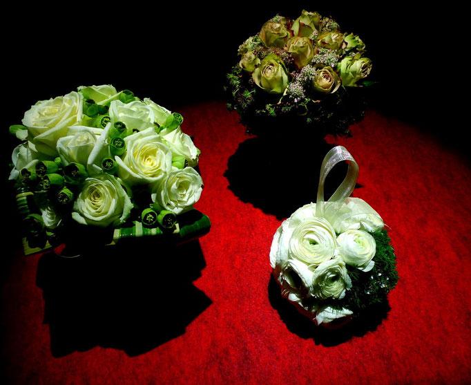 3 bouquets conçus pour Défile & Rêve