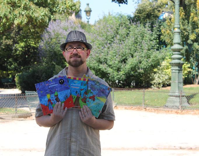 Benjamin lecteur de la trilogie fantastique jeunesse des lutins parue chez Benjulice Edition