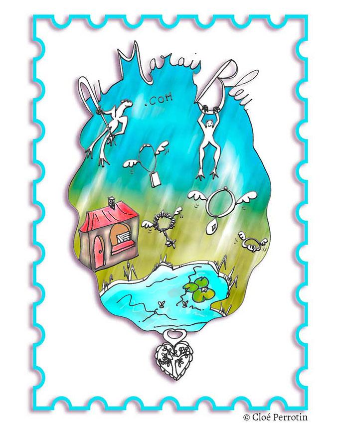 Illustration cadeau pour clients - réalisée pour le concours avec Le marais bleu