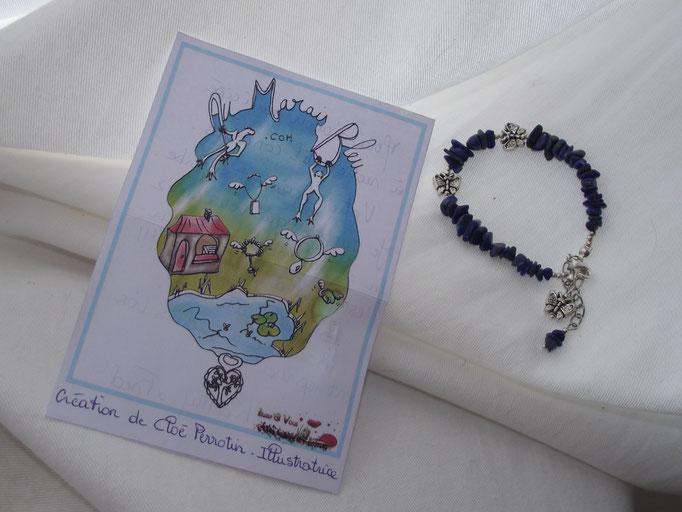 Illustration cadeau des clients - réalisée pour le concours avec Le marais bleu