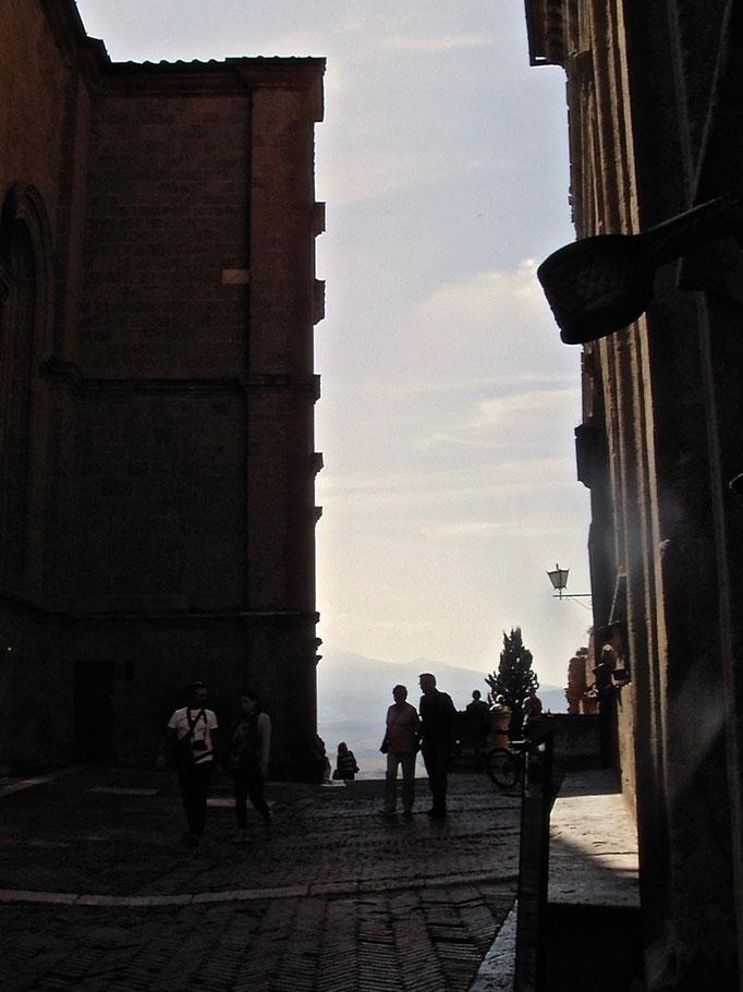 Scorcio, glimpse, Pienza, Val d'Orcia, Siena, Italy, Toscana, Tuscany