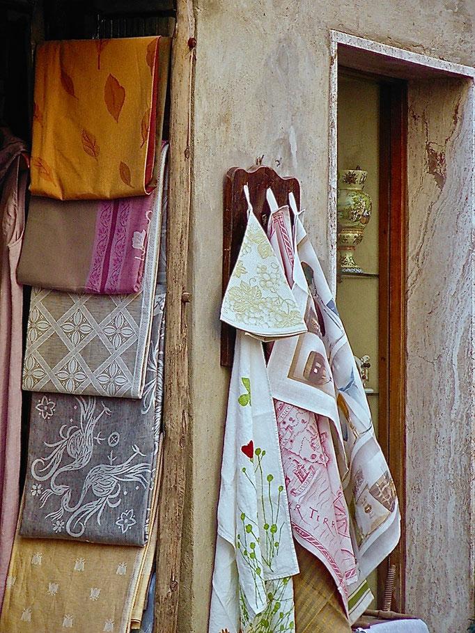 Canovacci, tea towel, Pienza, Val d'Orcia, Siena, Italy, Toscana, Tuscany