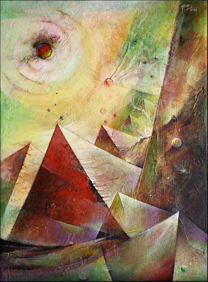 La fin des Pyramides01 - 40x30 cm - (disponible)