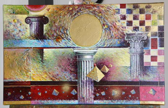 L'ordre des choses - 61x38 cm - (disponible)