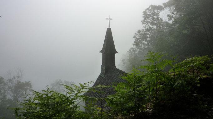 La chapelle Sainte-Foy sur les hauteurs de Conques