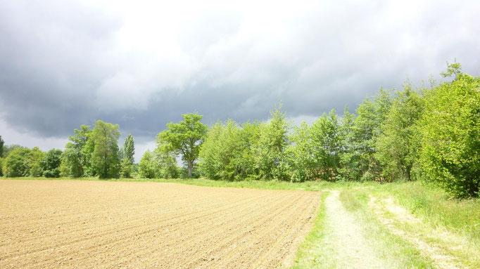 Le nuage de grèle arrive