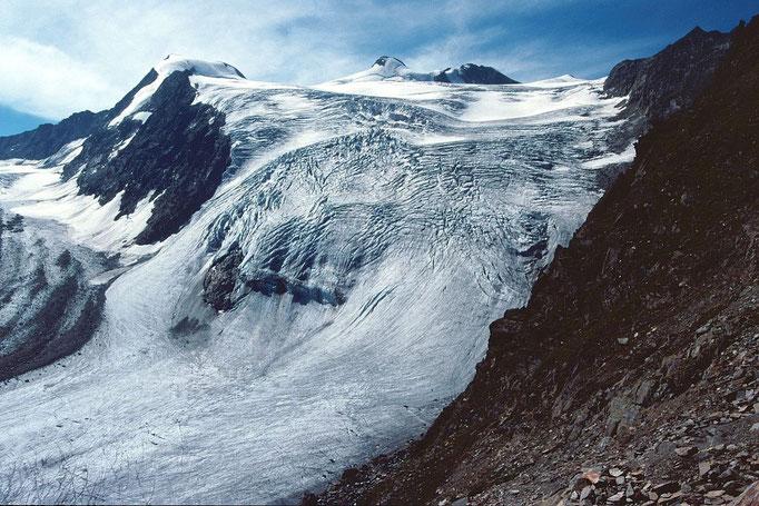 Sulzenauferner mit Wilder Pfaff 3458 m und Zuckerhütl 3505 m