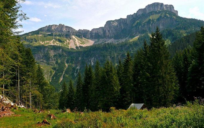 Hochanger und Loser in der Nähe der Wegteilung zur Altausseer Rettenbachalm