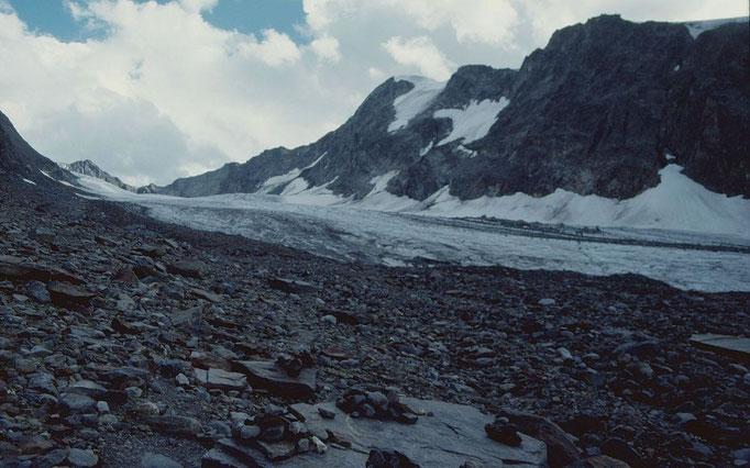 Gletscher Fernerstube mit Pfaffennieder und WildemPfaff 3458 m