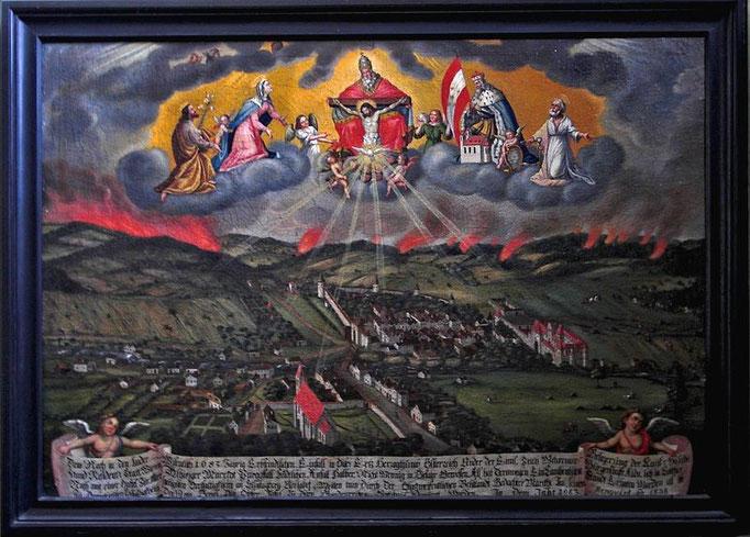 Ein Bildmotiv, das wir in mehreren Kirchen in ähnlicher Ausgestaltung sahen.