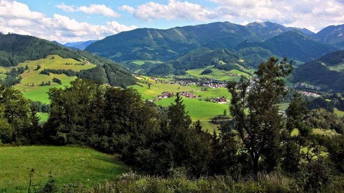 Der 1513 m hohe Almkogel - höchster Berg in der Gemeinde Großraming.  Für den Aufstieg benötigt man ab Bahnstation ca. 4 Std. Mit Pkw bis zum Parkplatz Bamacher verkürzt sich der Aufstieg auf 2 Std.