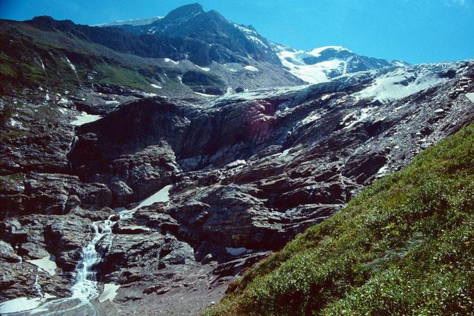 Karlingerkees und Vorderer Bärenkopf vom Steig zum Kapruner Törl