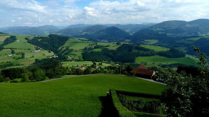 Mostviertel und Ybbstaler Alpen von der Basilika Sonntagberg