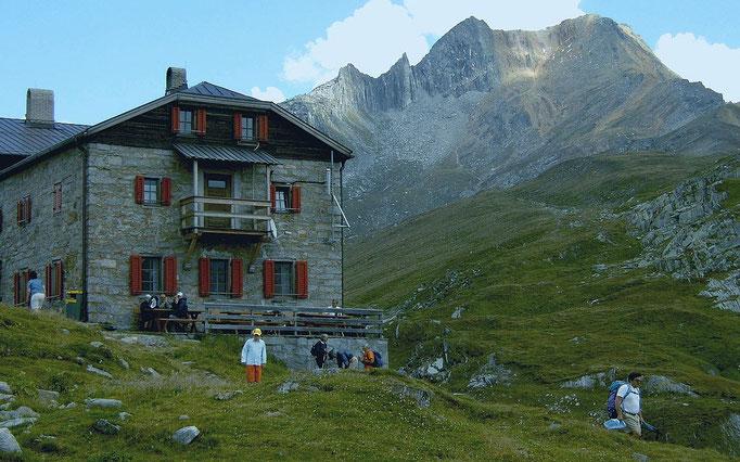 Pfitscher Joch Haus von Westen gegen Rotbachlspitze