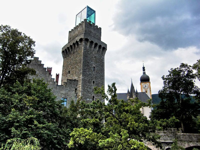 Der Turm des Schlosses von Waidhofen an der Ybbs nach der Neugestaltung