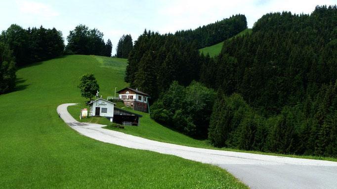 Talstation des Skilifts am Glasenberg und Glaserhütte