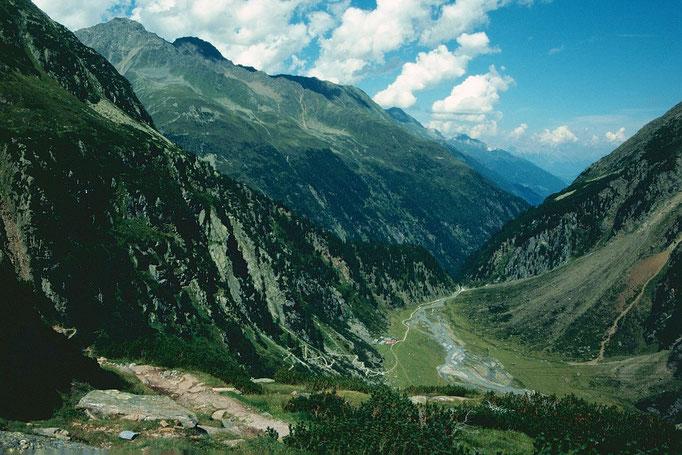 Gebiet der Sulzaualm und des Sulzaubachs. Fotostandort Sulzenauhütte