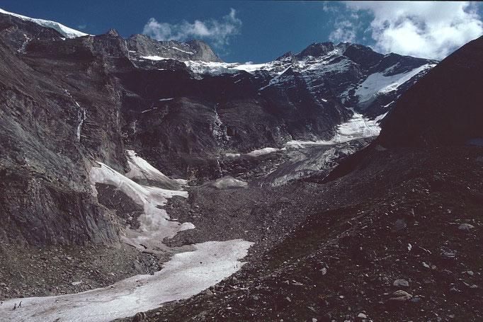 Wildes, urtümliches Seitental zwischen Gr. Wiesbachhorn und Bratschenköpfen mit dem Kaindlkees