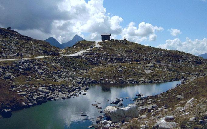 Die Zoll- und Grenzhütte auf dem Pfitscher Joch