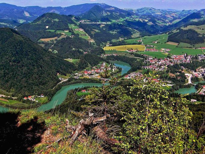 Großraming und die Ennstaler Alpen vom Hiaslberg