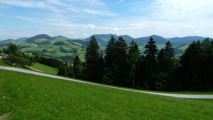 Reizvolles Panorama in erholsamer Landschaft bei Maria Neustift