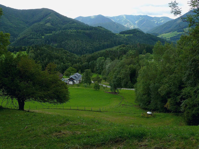 Blick vom Heiligensteinerweg bei Weyer zur Bodenwies im Nationalpark Kalkalpen