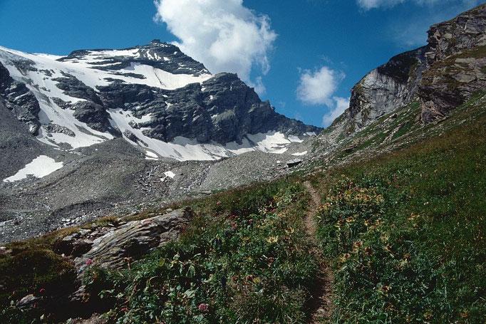 Der Steig zum Kapruner Törl. Oben Wintergasse