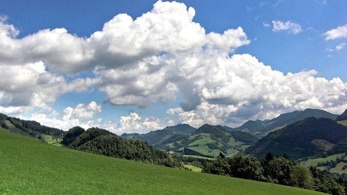 Wolkenstimmung auf Rabenreith am Nachmittag