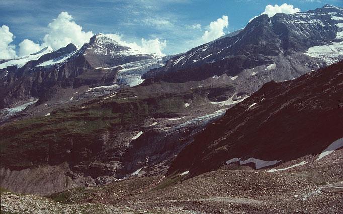 Klocknerin, Bärenkopfkees und Mittlerer Bärenkopf vom Gebiet der Wintergasse