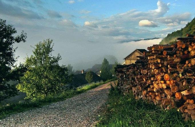 Sich auflösender Nebel auf Rabenreith