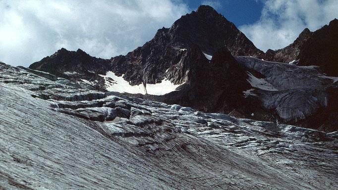 Die wilde Leck über dem unteren Eisfall des Sulztalferners