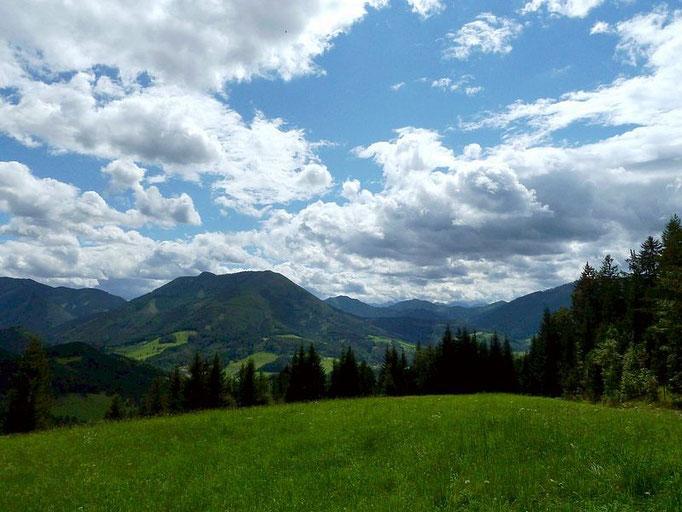 Die Ennstaler Alpen vom Heiligensteinerweg