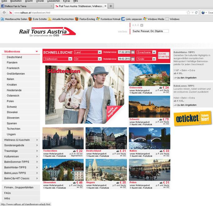 Rail Tours Austria, Male Model: Robert Twardowski, Fotograf Dieter Hawlan, Visa: Daniela Steindl