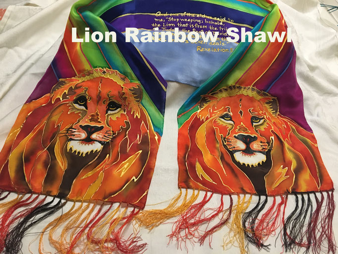 Lions Rainbow Shawl