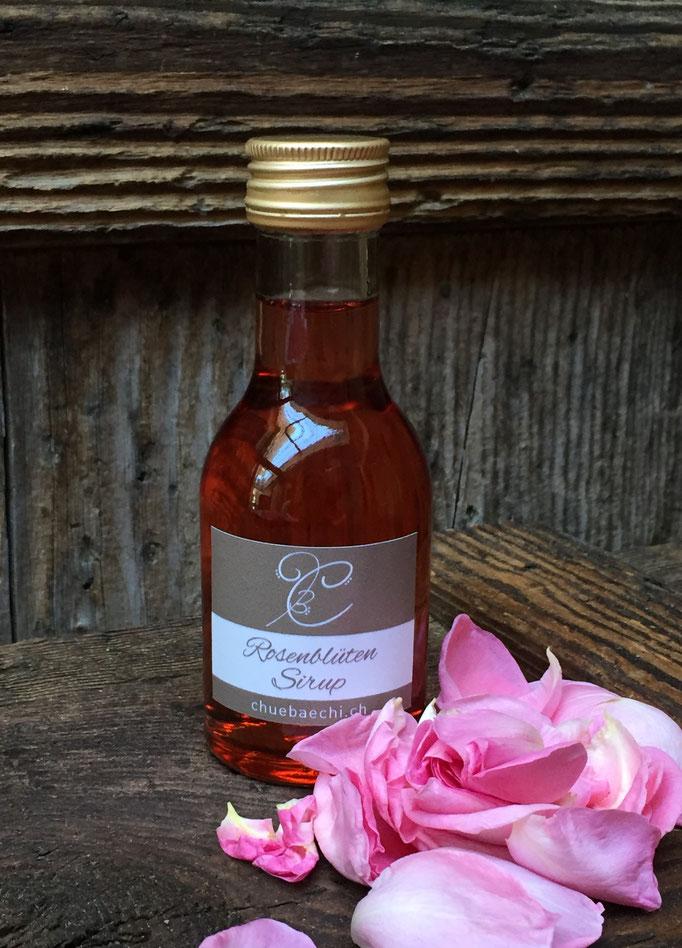 Rosenblüten Sirup, handgemacht