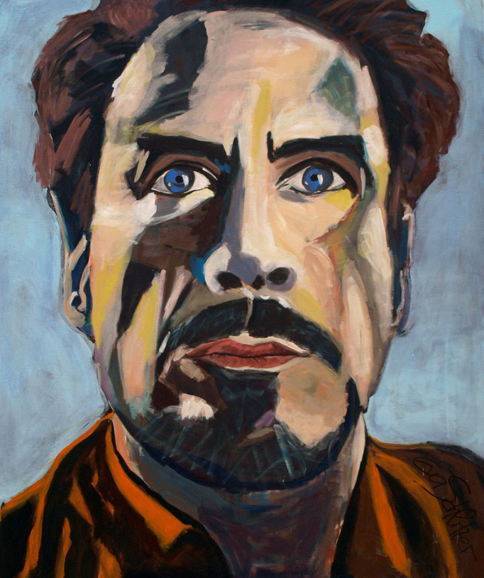 """Robert Downey jun."", 120 x 100, Acryl auf Leinen, 2016"